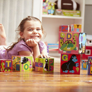 Melissa & Doug Alphabet Nesting & Stacking Blocks-Toys-Babysupermarket