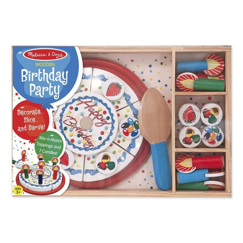 Melissa Doug Birthday Party Wooden Play Food