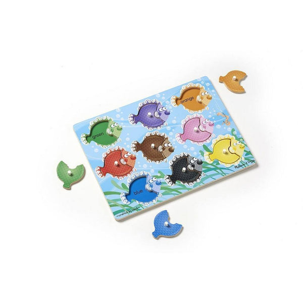 Melissa Amp Doug Colorful Fish Peg Puzzle