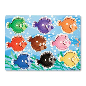 Melissa & Doug Colorful Fish Peg Puzzle-Toys-Babysupermarket