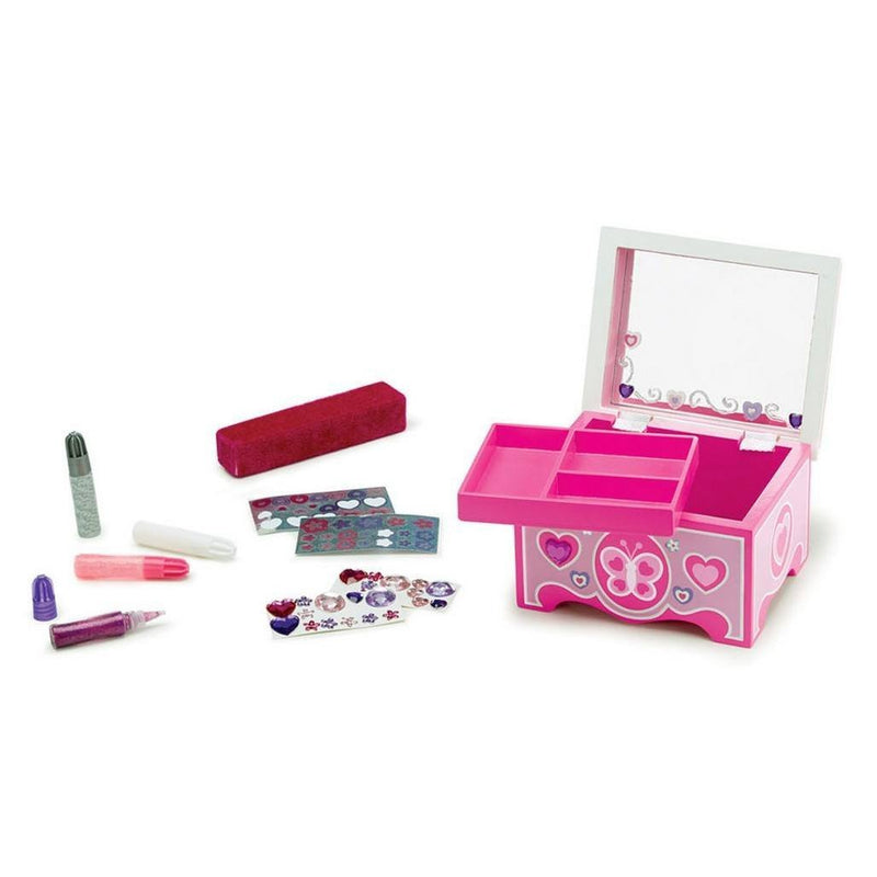 Melissa Doug Decorate Your Own Jewelry Box