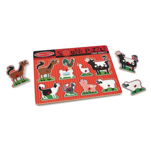 Melissa & Doug Farm Animals Sound Puzzle-Toys-Babysupermarket