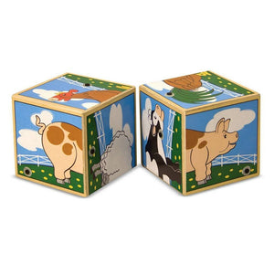 Melissa & Doug Farm Sound Blocks-Toys-Babysupermarket