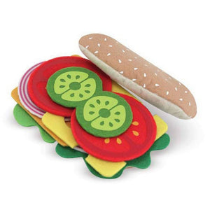 Melissa & Doug Felt Play Food Sandwich Set-Toys-Babysupermarket