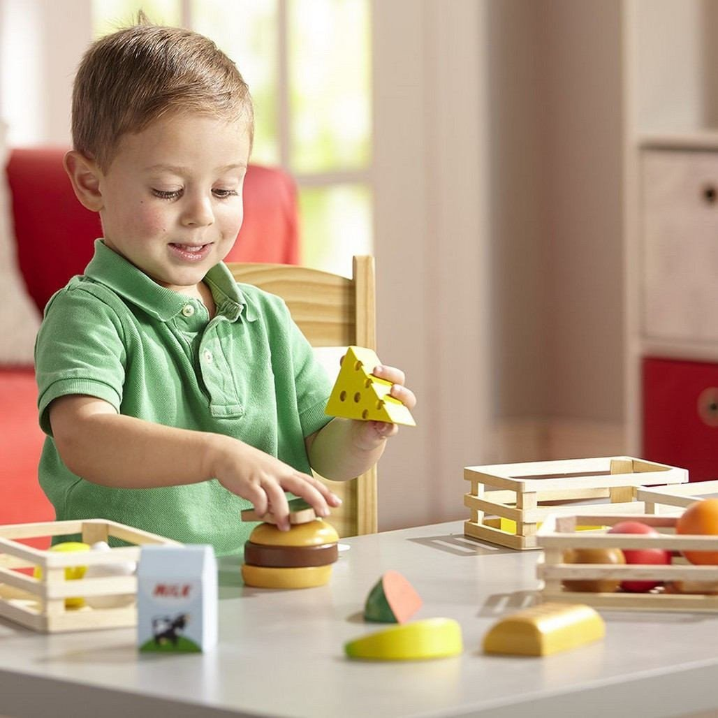 Melissa & Doug Food Groups Wooden Play Food-Toys-Babysupermarket