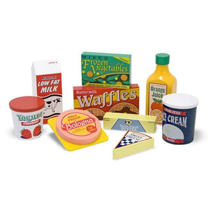 Melissa & Doug Fridge Wooden Play Food Set-Toys-Babysupermarket