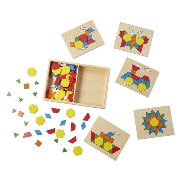 Melissa Amp Doug Pattern Blocks And Boards Toy