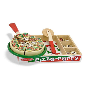Melissa & Doug Pizza Party Wooden Play Food-Toys-Babysupermarket