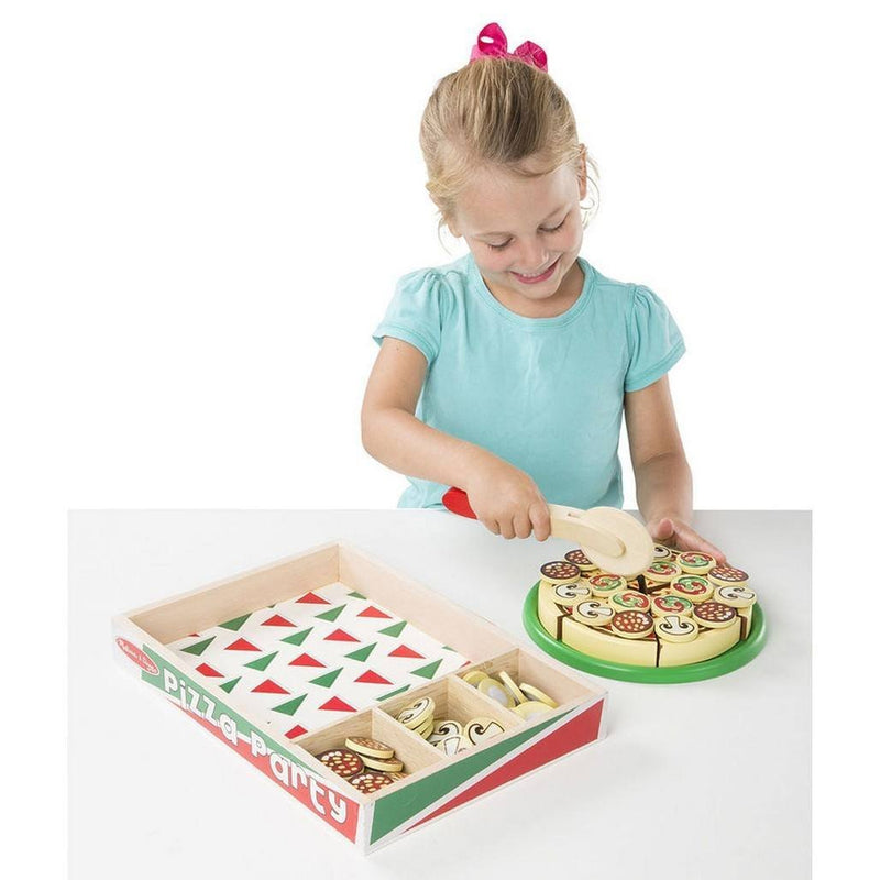 Melissa Doug Pizza Party Wooden Play Food