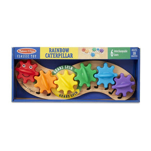 Melissa & Doug Rainbow Caterpillar Gear Wooden Toy-Toys-Babysupermarket
