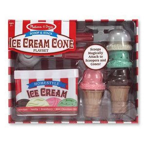 Melissa & Doug Scoop & Stack Ice Cream Cone Wooden Play Food-Toys-Babysupermarket