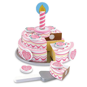 Melissa & Doug Triple-Layer Party Cake Wooden Play Food-Toys-Babysupermarket