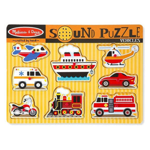 Melissa & Doug Vehicles Sound Puzzle-Toys-Babysupermarket
