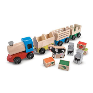 Melissa & Doug Wooden Farm Train-Toys-Babysupermarket