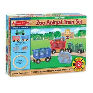 Melissa & Doug Zoo Animal Wooden Train Set-Toys-Babysupermarket