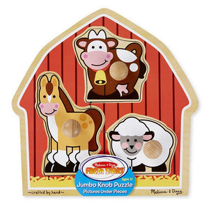 Melissa and Doug Toys Melissa & Doug Barnyard Animals Jumbo Knob Puzzle