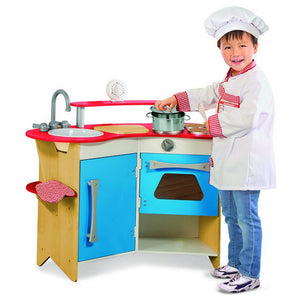 Melissa and Doug Toys Melissa & Doug Cook's Corner Wooden Play Kitchen
