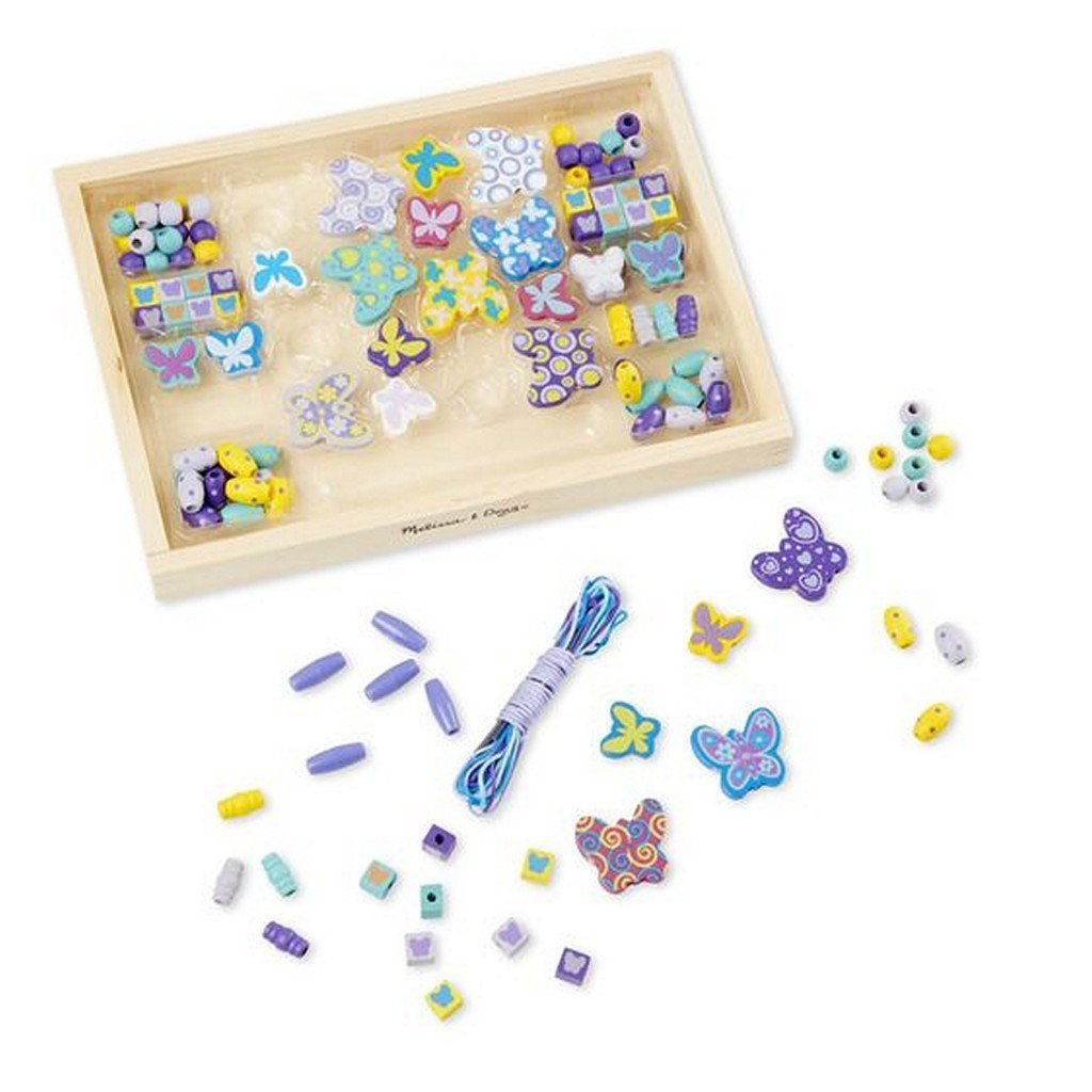 Melissa and Doug Toys Melissa & Doug Created by Me! Butterfly Beads Wooden Bead Kit
