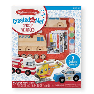 Melissa and Doug Toys Melissa & Doug Created by Me! Rescue Vehicles Wooden Craft Kit