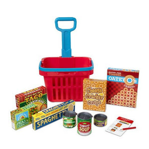 Melissa and Doug Toys Melissa & Doug Fill & Roll Grocery Basket Play Set