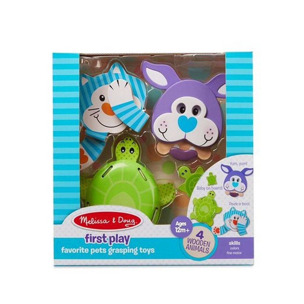 Melissa and Doug Toys Melissa & Doug First Play Favorite Pets Grasping Toys