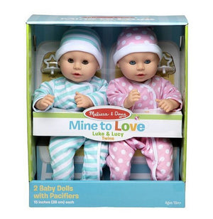 Melissa and Doug Dolls Melissa & Doug Mine to Love Luke & Lucy Dolls