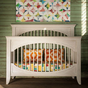 Milk Street Baby Furniture Milk Street Baby Cameo Oval Convertible Crib Steam