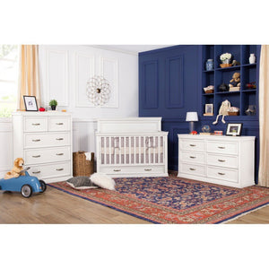 DaVinci Furniture Million Dollar Baby Classic Langford 6-Drawer Dresser Warm White