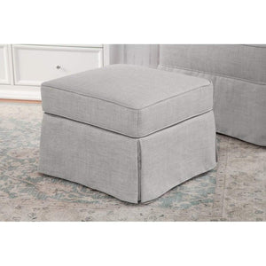 Franklin & Ben Furniture Million Dollar Baby Sadie Swivel Glider with Storage Ottoman Light Grey
