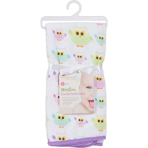 MiracleWare Muslin Infant Hooded Towel Owls-Baby Care-Babysupermarket