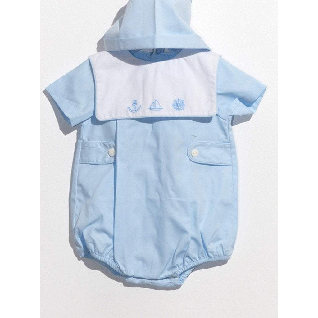 Mom n Me, Inc Infant Apparel 3M / Blue Mom and Me Infant Boy Anchor Bubble