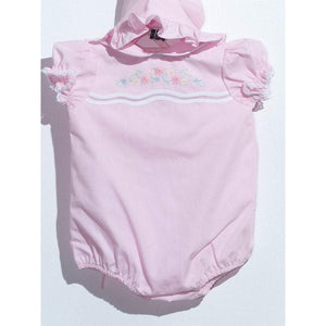 Mom n Me, Inc Girls Apparel 3M / Pink Mom and Me Infant Girl Bubble with Flowers