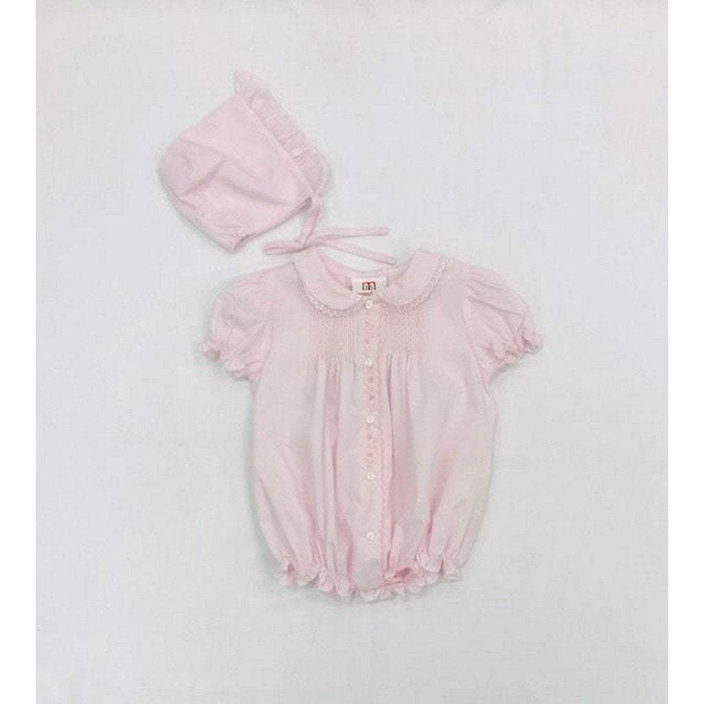 Mom n Me, Inc Apparel 3 Mo / Pink Mom n Me Infant Girl Bubble with Bonnet