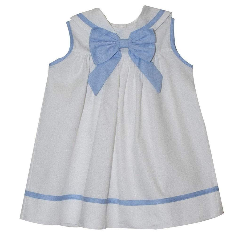 Mondays Child Toddler Boy Apparel Monday's Child Sailor White Pique Girls Float Dress