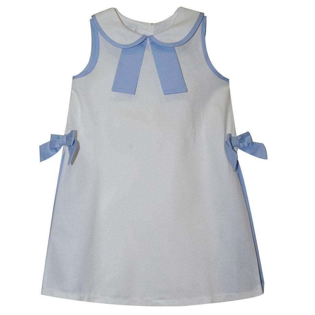 Mondays Child Toddler Boy Apparel Monday's Child Sailor White Pique Girls Pleated A Line Dress