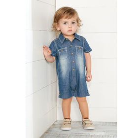 MUDPIE Gifts & Apparel 3-6 months / Chambray MUD PIE Chambray One Piece