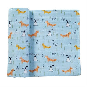 MUDPIE Baby Blankets MUD PIE Fox Muslin Swaddle Blanket