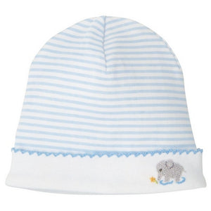 MUDPIE Gifts & Apparel Blue MUD PIE French Knot Elephant Cap Blue