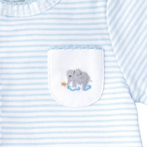 MUDPIE Gifts & Apparel 0-3 months / Blue MUD PIE French Knot Elephant Sleeper