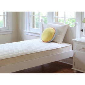 Naturepedic Organic Cotton Quilted Deluxe Twin Mattress-Furniture-Babysupermarket