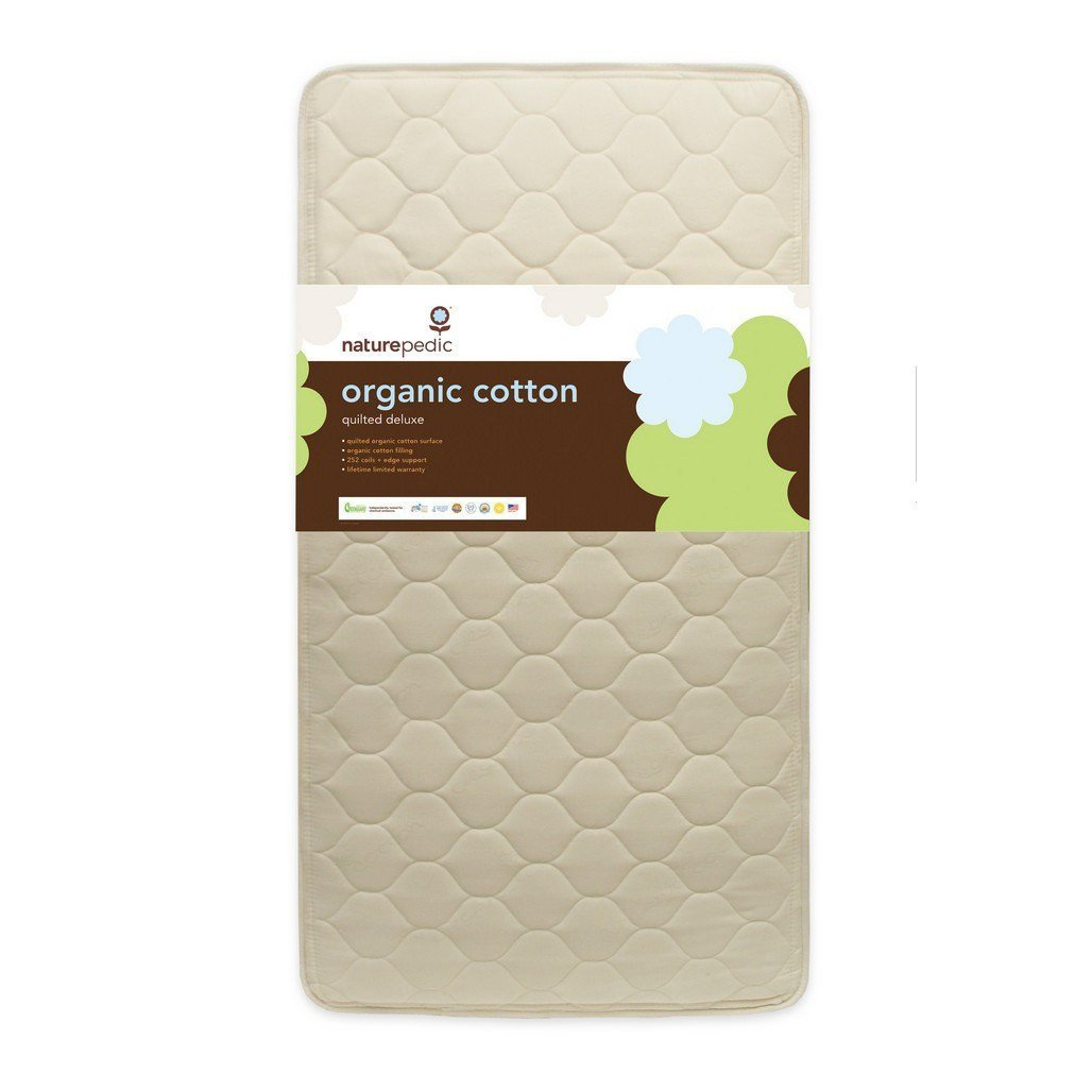 Naturepedic Organic Deluxe 252 Crib Mattress-Furniture-Babysupermarket