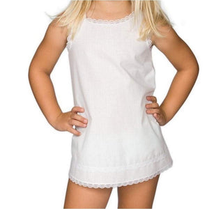 New ICM 6 Months / White New ICM Simple A-Line Girls Slip