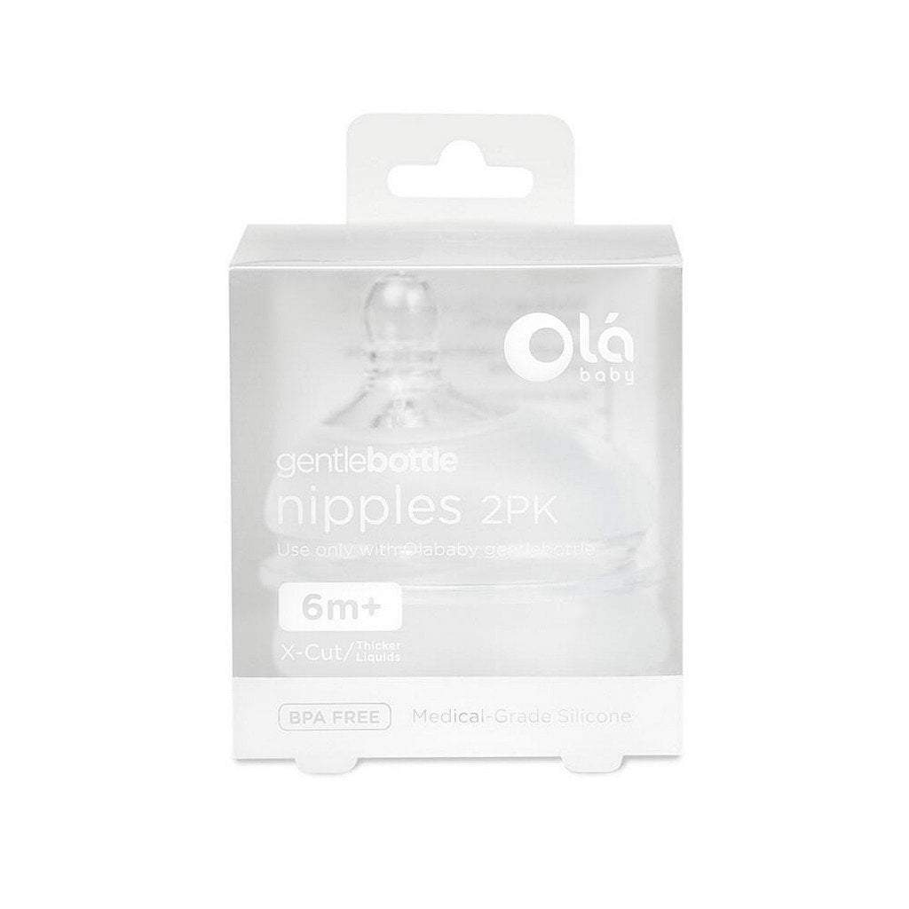 Olababy Baby Care Olababy Gentle Bottle Silicone Nipple X-Cut 2PK