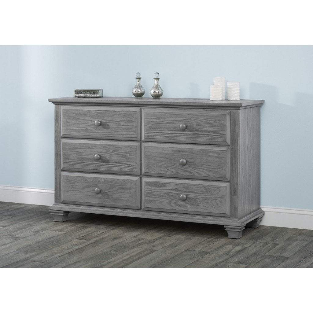 M Design Furniture Oxford Baby by M Design Kenilworth 6 Drawer Dresser Graphite Gray