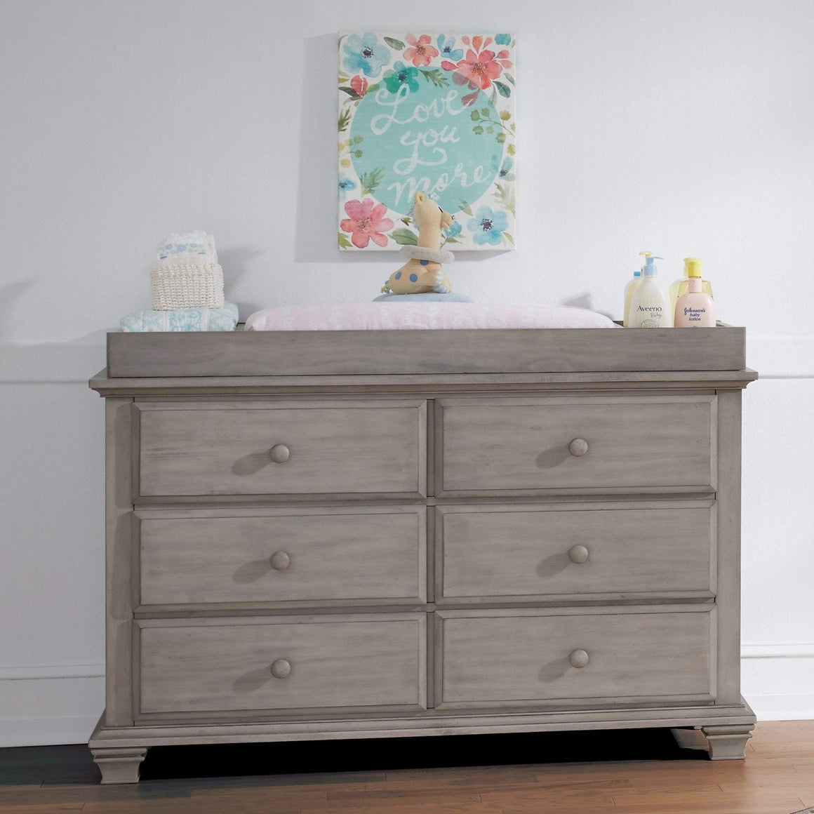 M Design Furniture Oxford Baby by M Design Kenilworth 6 Drawer Dresser Stone Wash