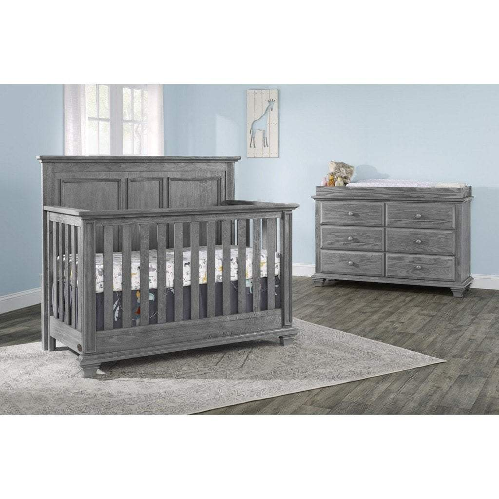 M Design Furniture Oxford Baby by M Design Kenilworth Crib and 6 Drawer Dresser Graphite Gray