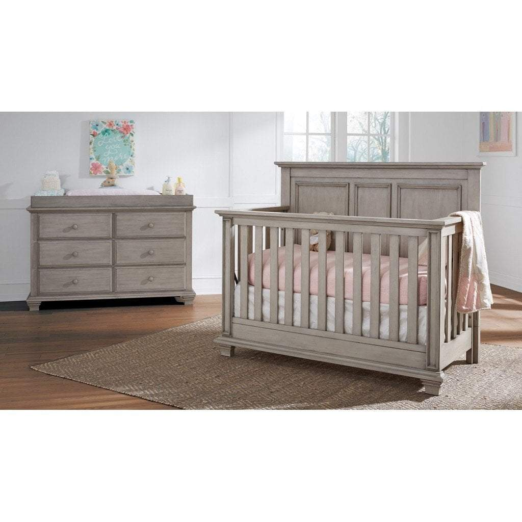 M Design Furniture Oxford Baby by M Design Kenilworth Crib and 6 Drawer Dresser Stone Wash