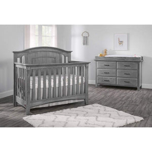 M Design Furniture Oxford Baby by M Design Willowbrook  4IN1 Convertible Crib Graphite Gray