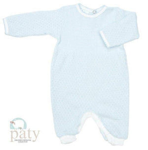 Paty Apparel NB / Blue Paty, Inc Long Sleeve Romper Blue