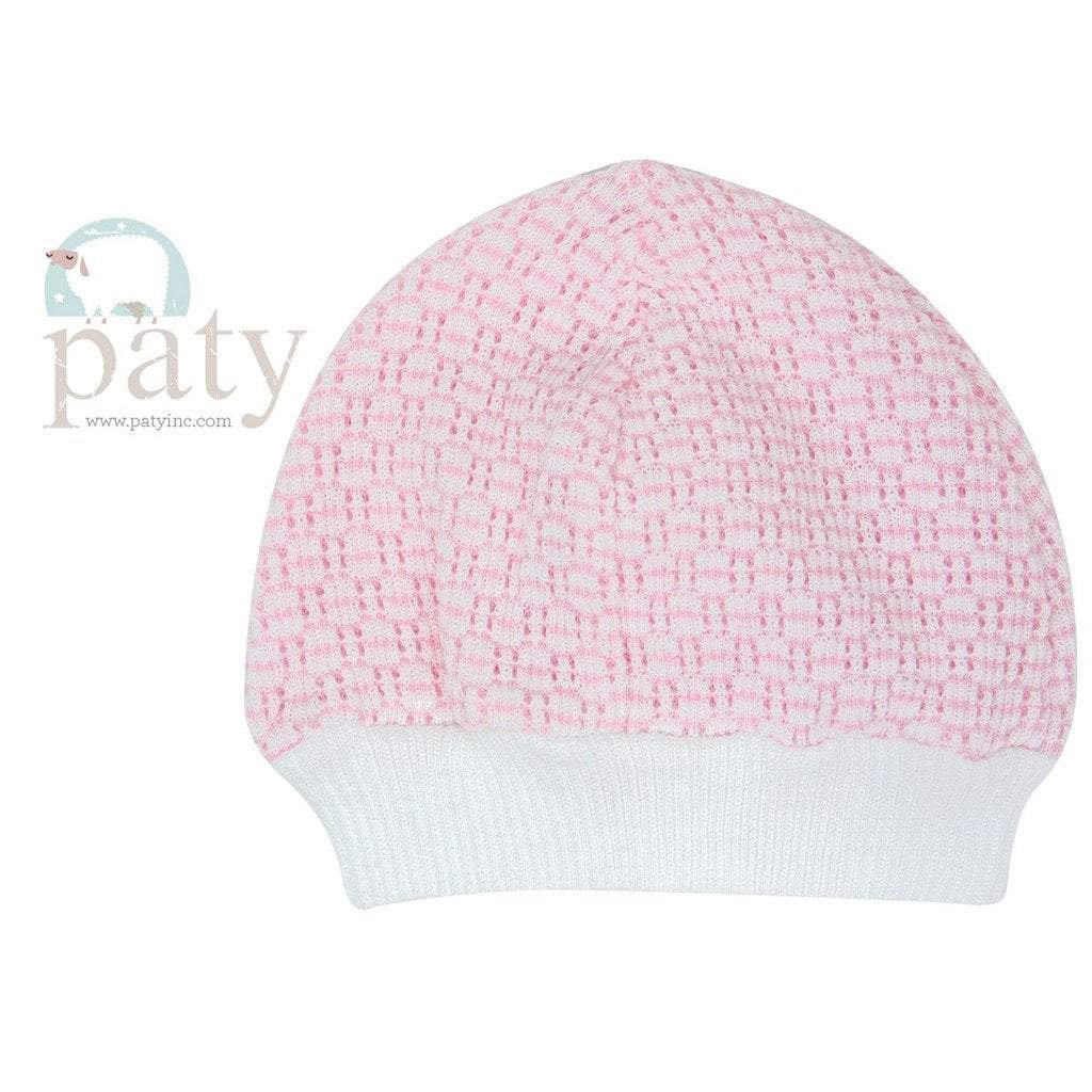 Paty Infant Apparel OS / Pink Paty Solid Pink Skull Cap